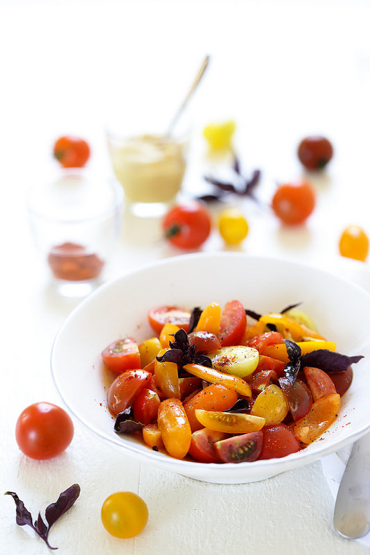 Salade de tomates cerise à la moutarde