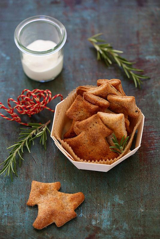 Crackers au yaourt et romarin