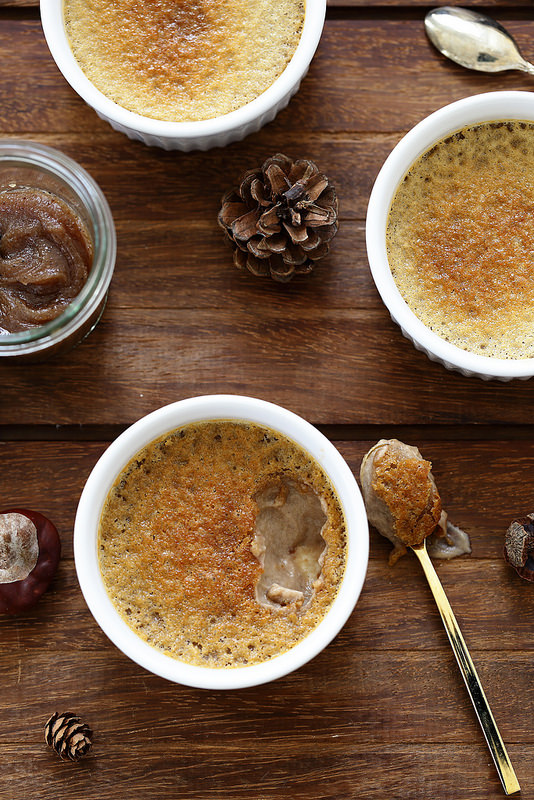 Petites crèmes aux marrons (recette)