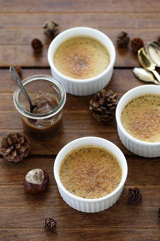 Petites crèmes aux marrons (trois ingrédients)