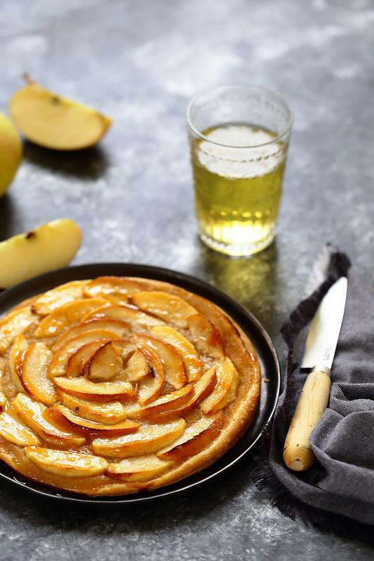 Tarte fine aux pommes (recette)