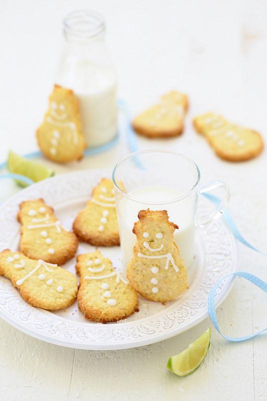 Biscuits sables coco citron vert