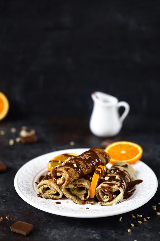 Crêpes au chocolat et noisettes ou gianduia