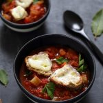 soupe tomate crostini fromage