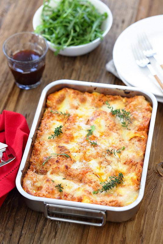 Lasagnes à la napolitaine (deux recettes : traditionnelle et simplifiée)
