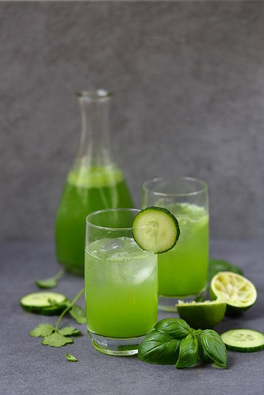 Cooler au concombre cocktail avec ou sans alcool