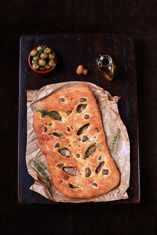 Recette de la fougasse aux olives