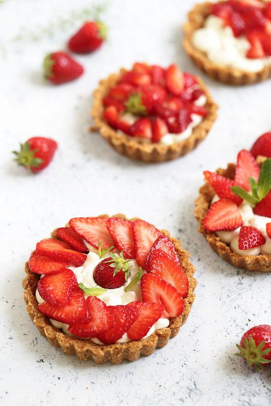 tarte fraises sans cuisson rapide