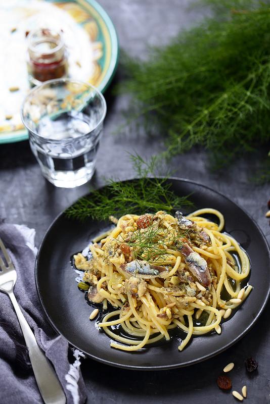 Pates sardines Sicile Italie