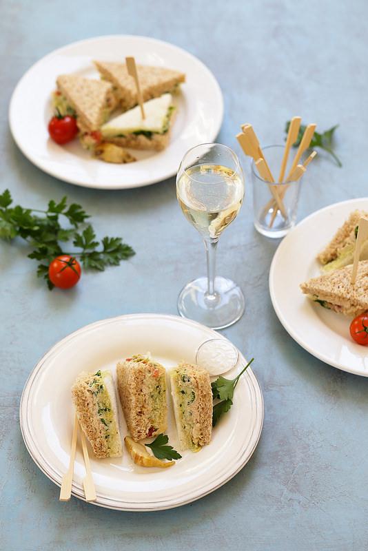 Tramezzini thon artichauts sandwichs italien antipasti