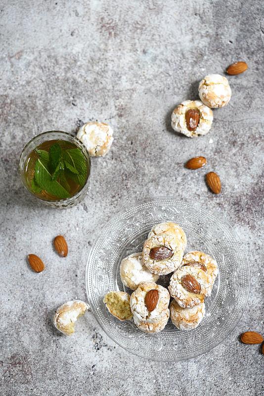 Ghoriba aux amandes, des biscuits marocains faciles sans gluten