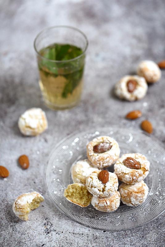 Ghoriba aux amandes, biscuits rapides et faciles