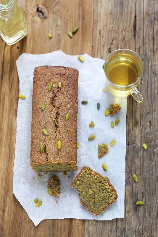 Cake fondant pistaches amandes sans gluten