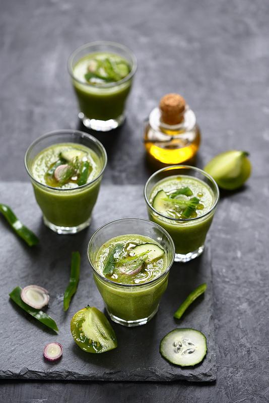 Gaspacho vert tomates poivrons