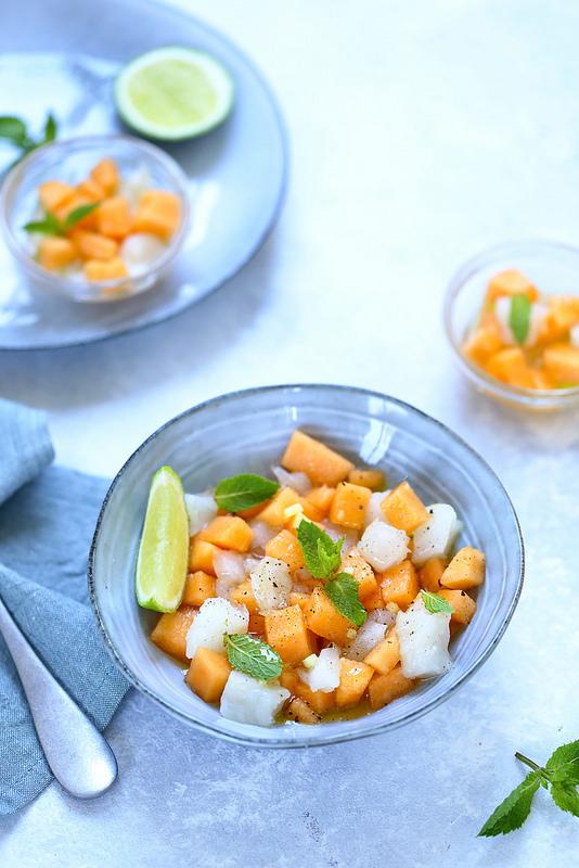 Tartare cabillaud melon recette facile rapide legere