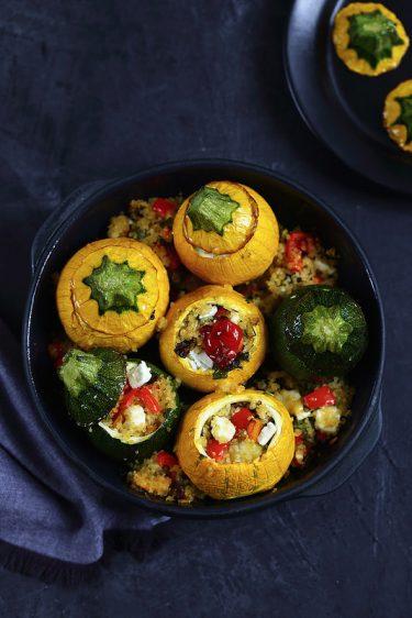 courgettes rondes farcies legumes vegetarien