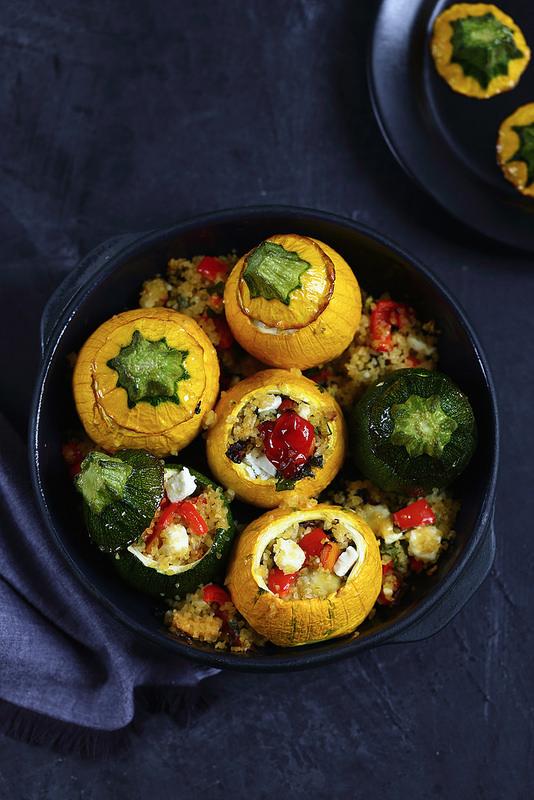 Courgettes farcies végétariennes légumes feta