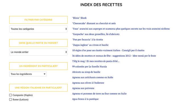 Améliorations blog index recettes un déjeuner de soleil