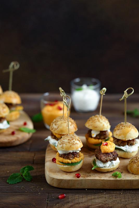 Mini burgers d'agneau recette facile pour apéritif