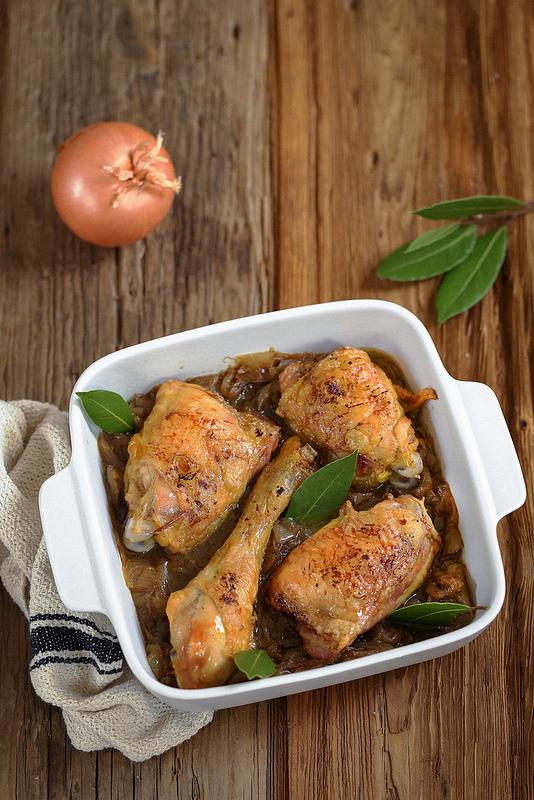 Poulet rôti aux oignons très facile