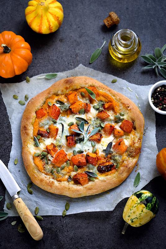 Pizza au potimarron, butternut et gorgonzola recette facile