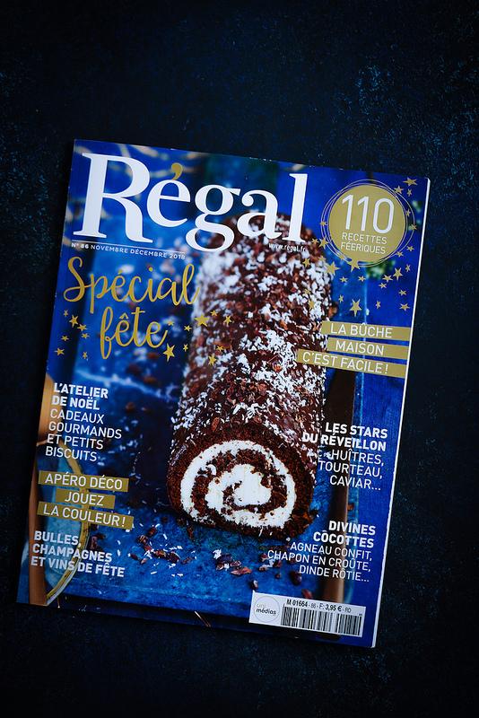 Gâteaux chiffre des fêtes réalisés par Edda Onorato pour Régal magazine