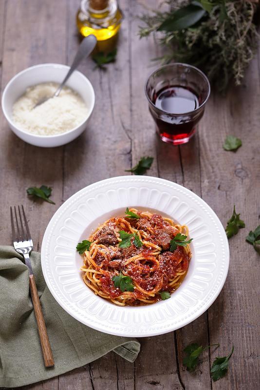 Pâtes à l'agneau recette italienne