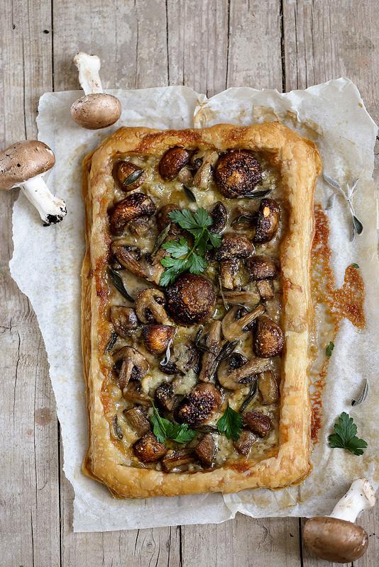 Tarte fine champignons recette facile et rapide