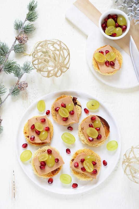 Crostinis ou toast de panettone au foie gras, recette de fête facile