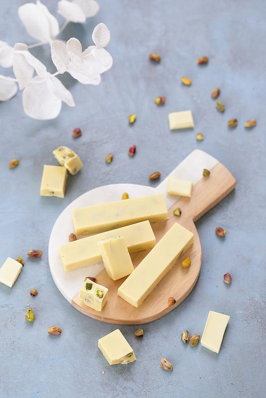 Barres chocolat blanc et pistaches torrone dei morti recette facile