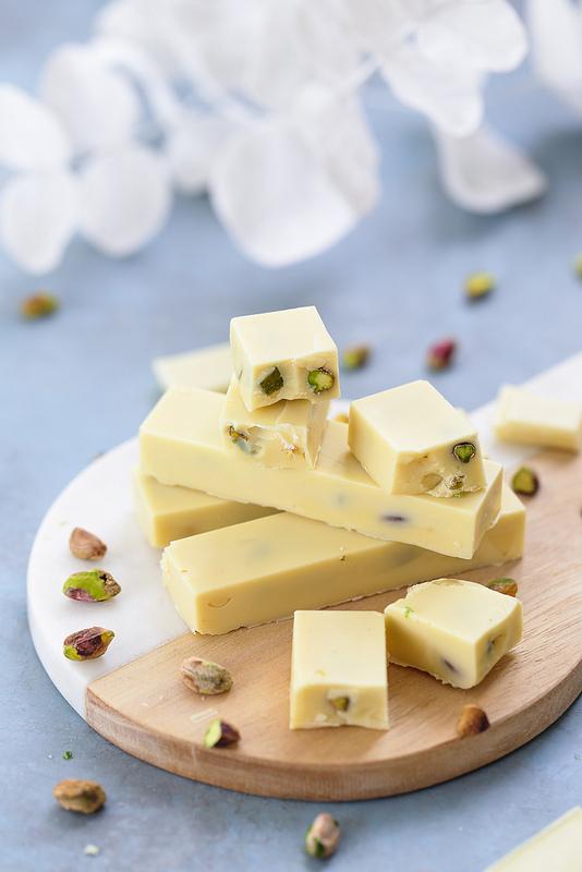 Barres chocolat blanc pistaches recette maison facile rapide