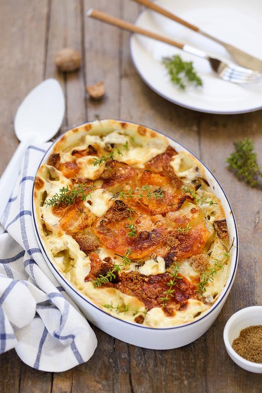 gratin pommes de terre courge recette facile