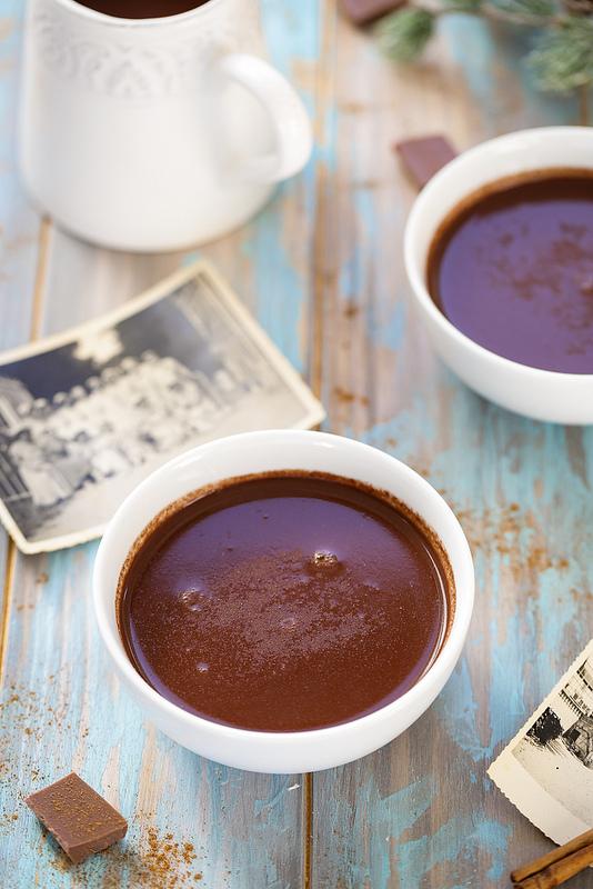 Chocolat chaud à l'eau sans laitages
