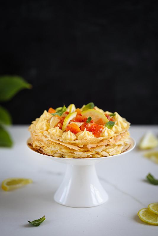 Gâteau de crêpes crème au citron recette gourmande et facile