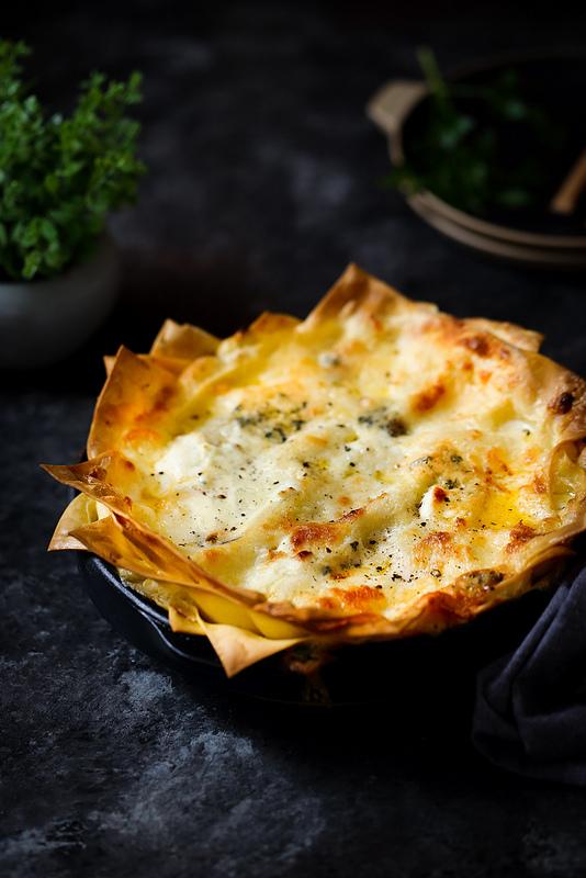 Lasagnes aux quatre fromages
