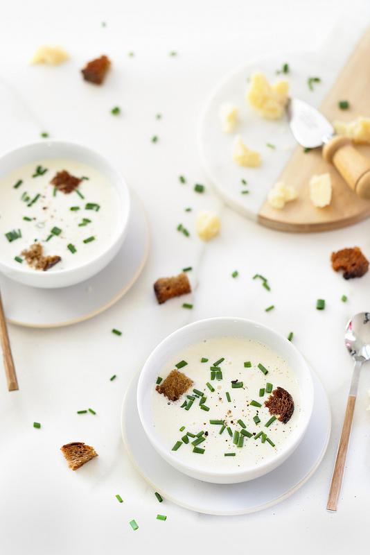 Soupe au parmesan inspirée de Stéphane Jego recette facile