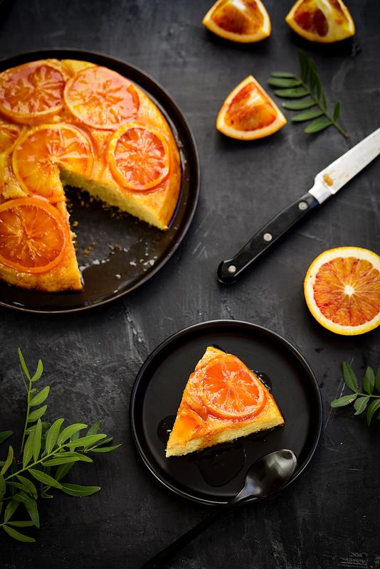 Gâteau renversé à l'orange (upside down cake) recette