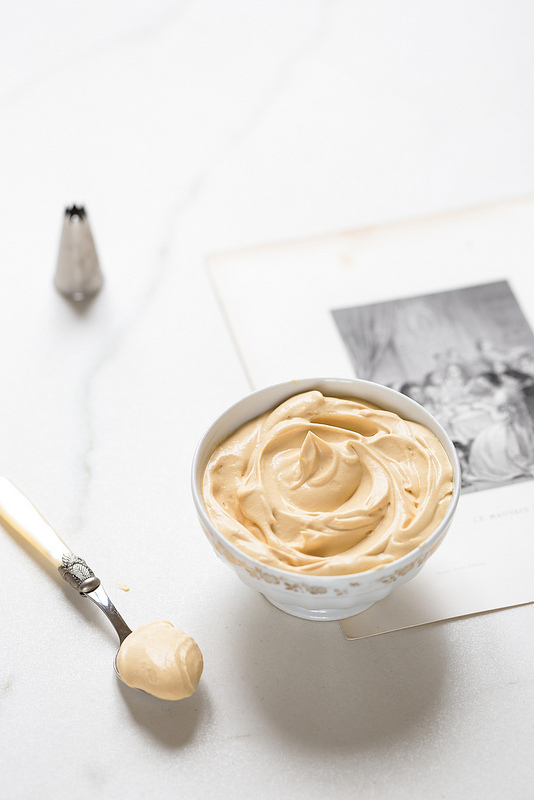 Ganache montée au chocolat blanc caramel recette facile et rapide