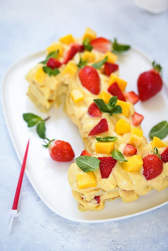 Recette facile gâteau chiffre fruit passion