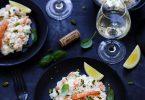 Risotto crevettes accord vin recette facile