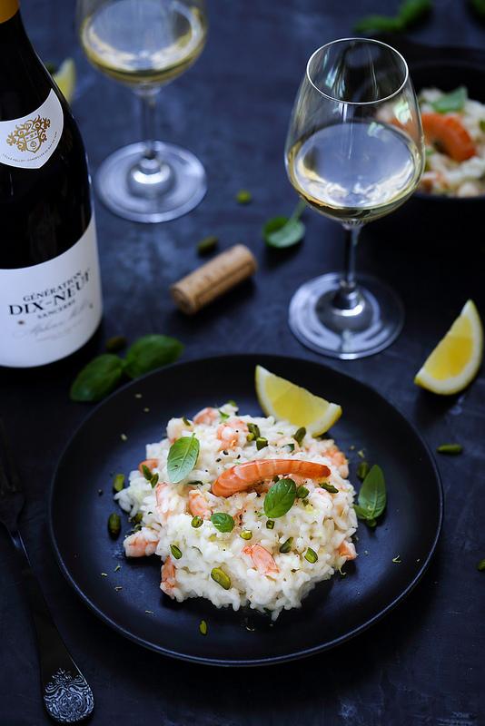 Recette de risotto aux crevettes en accord avec un vin