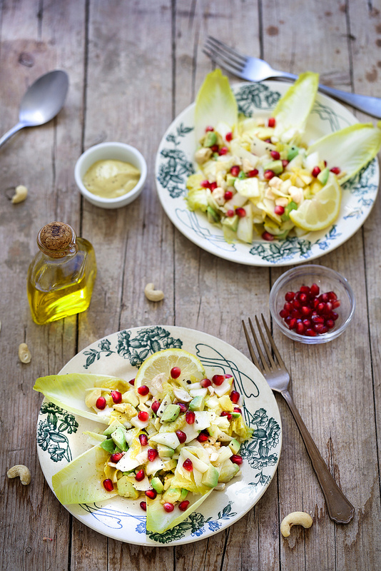 salade endives avocat moutarde recette délicieuse