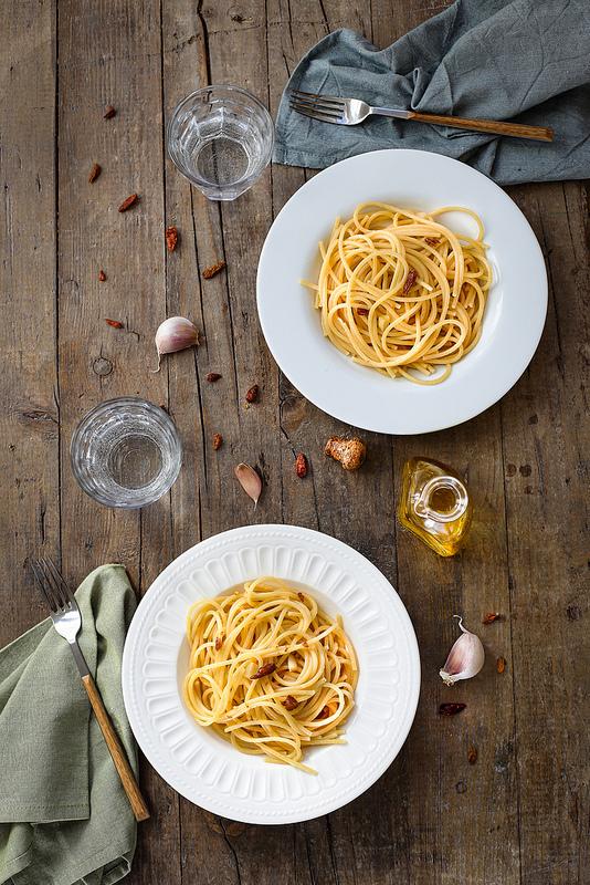 Spaghetti ail piment recette italienne rapide bon marché