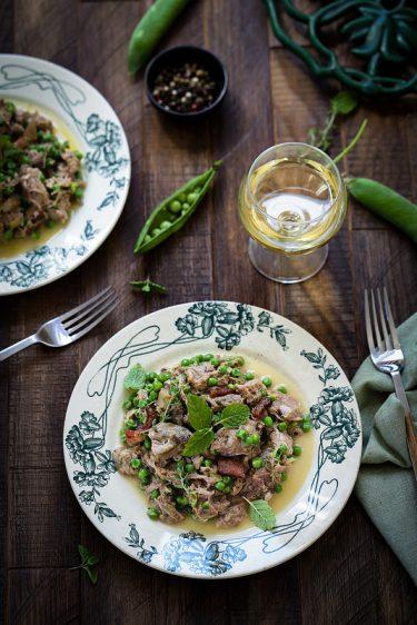 Agneau petits pois recette italienne
