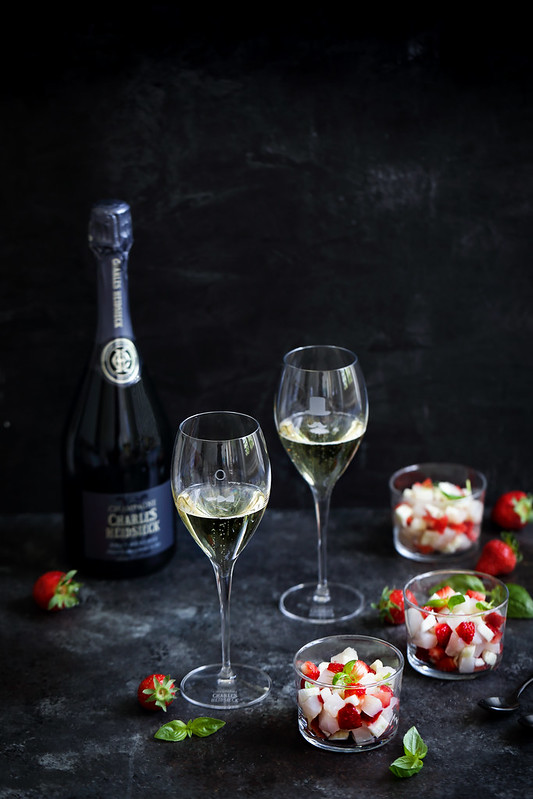 coffret champagne Charles Heidsieck tartare cabillaud recette