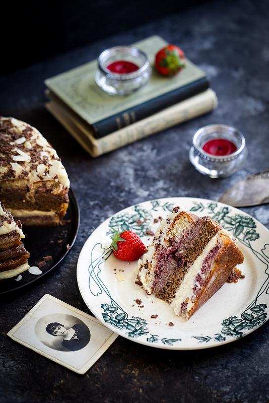 Gâteau facile crème pâtissière et chocolat
