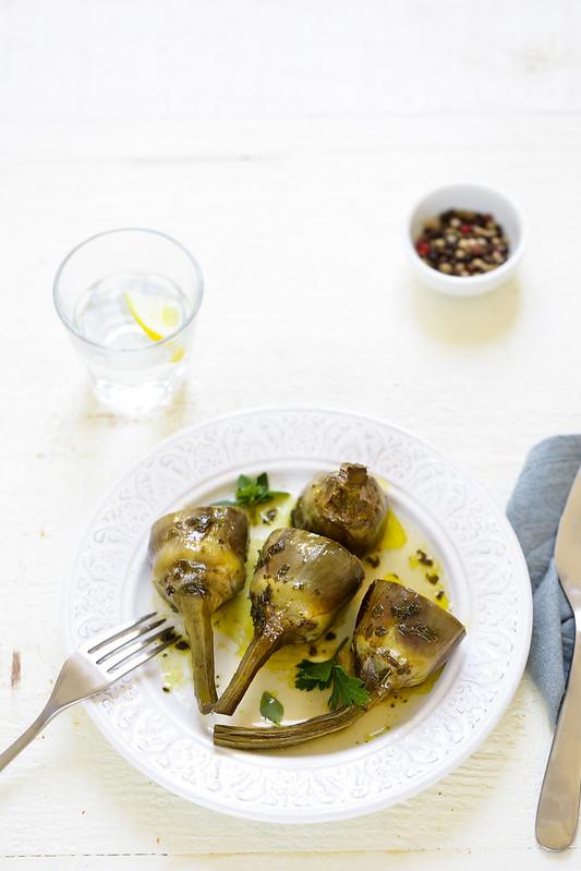 recette artichaut a la romaine en cocotte facile
