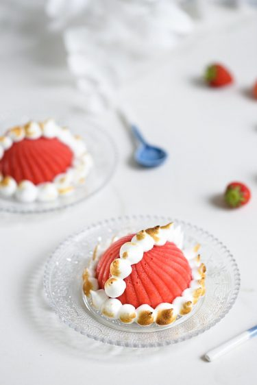 recette bombe alaska sorbet fraise