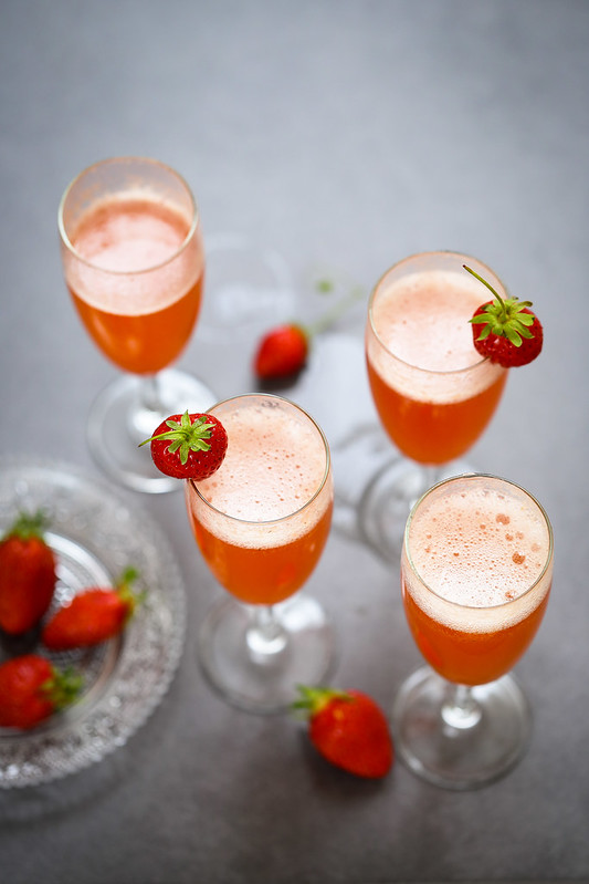 Rossini cocktail italien fraises prosecco