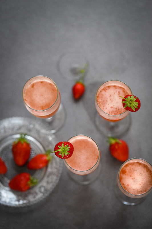 Cocktail Rossini fraises